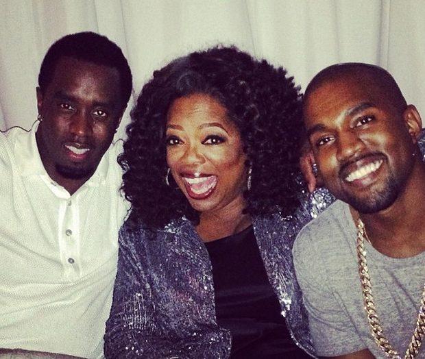 [Photos] Oprah Parties With Diddy, Kanye and Kim Kardashian