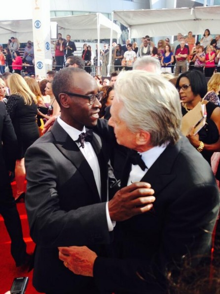 don cheadle-michael douglas-emmys red carpet 2013-the jasmine brand