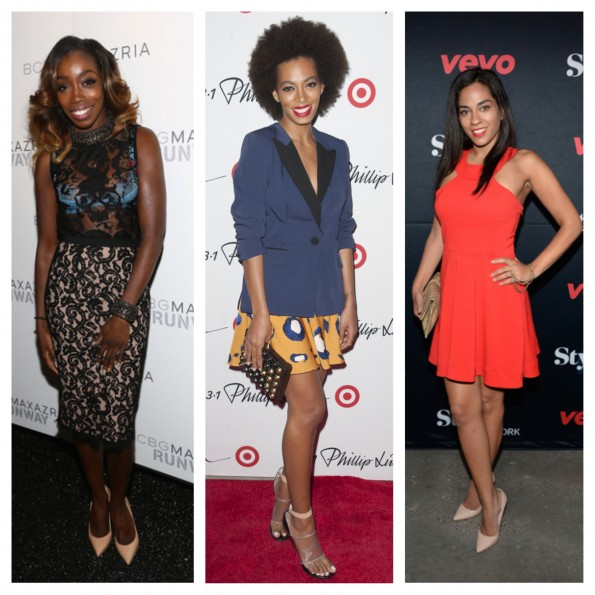 estelle-bcbg-solange knowles-phillip target-sharon carpenter vevo-new york fashion week 2013-the jasmine brand