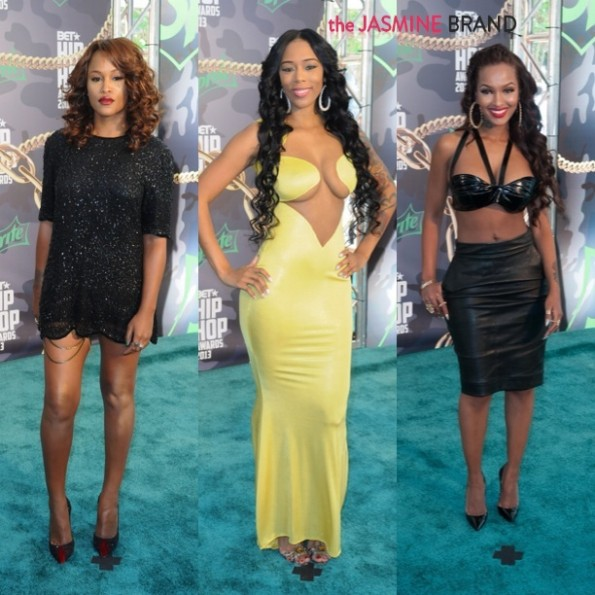 eve-bambi-lola monroe-bet hip hop awards 2013-the jasmine brand