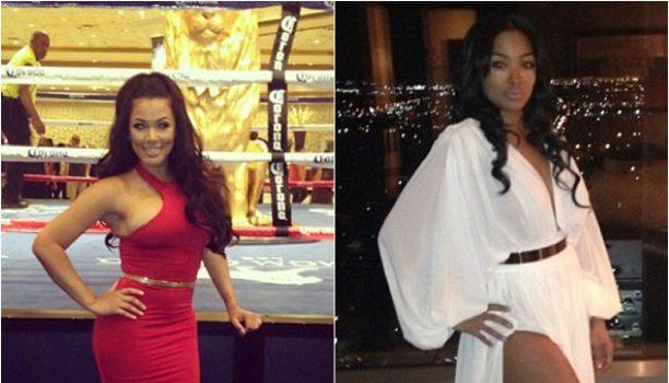 [Photos] Ear Hustlin': Both of Floyd Mayweather's Women Spotted Ring Side @ Alvarez Fight