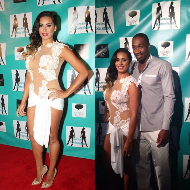 Laura Govan Throws Hollywood Hills B Day Bash With Chris