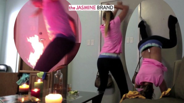 girl catches on fire-while twerking-the jasmine brand
