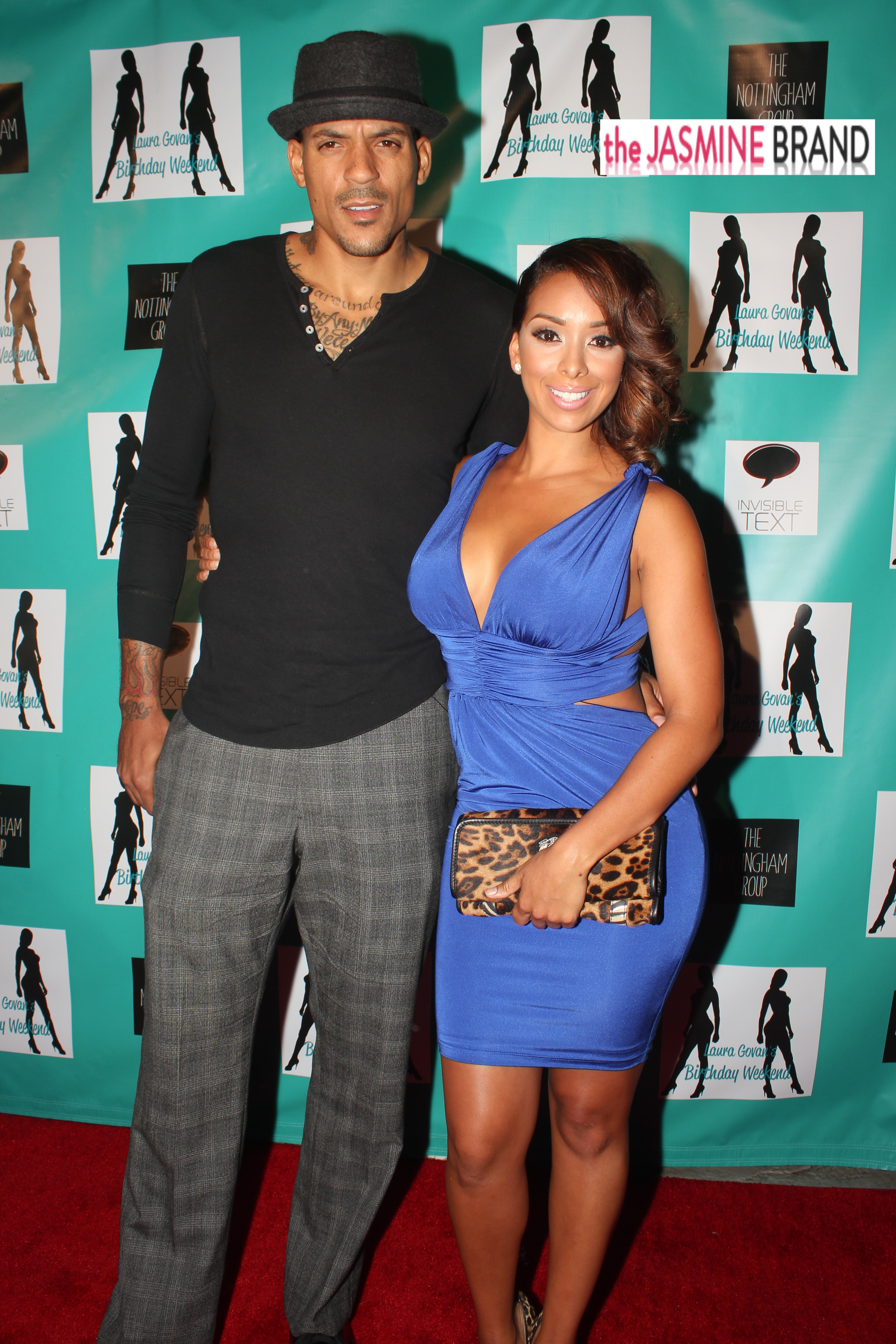gloria govan-matt barnes-laura govan birthday party 2013-the jasmine brand