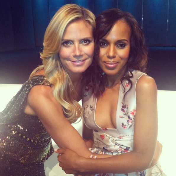 heidi klum-kerry washington-new york fashion week 2013-project runway judge-the jasmine brand