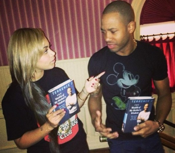 i-terrence j-promotes new book with lauren london-disney land-the jasmine brand
