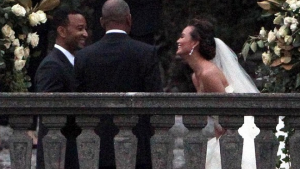 Just Married! John Legend & Chrissy Teigen's Top Secret Wedding Goes Down in Italy