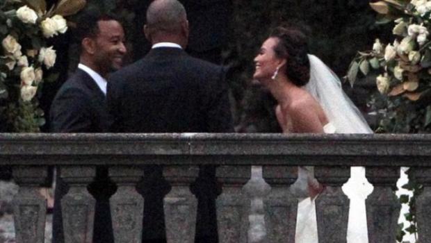 Just Married! John Legend & Chrissy Teigen's Top Secret Wedding Goes Down in Italy