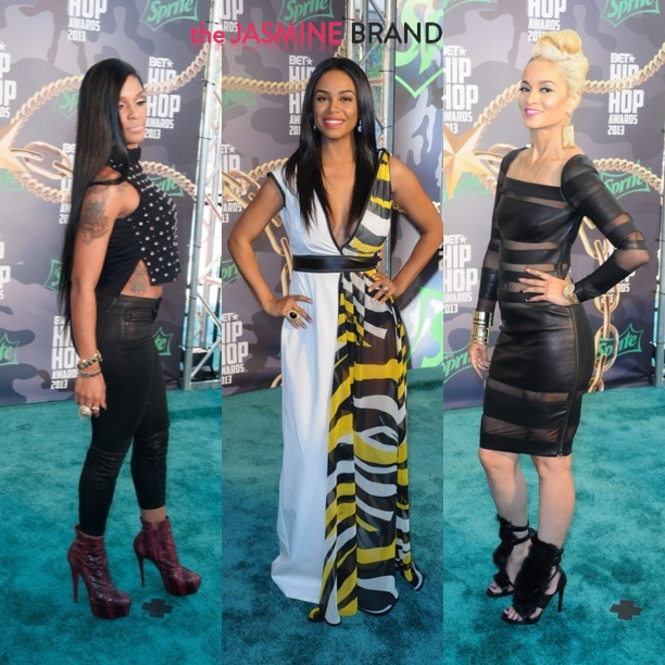 joseline hernandez-claudette ortiz-charlie baltimore-bet hip hop awards 2013-the jasmine brand