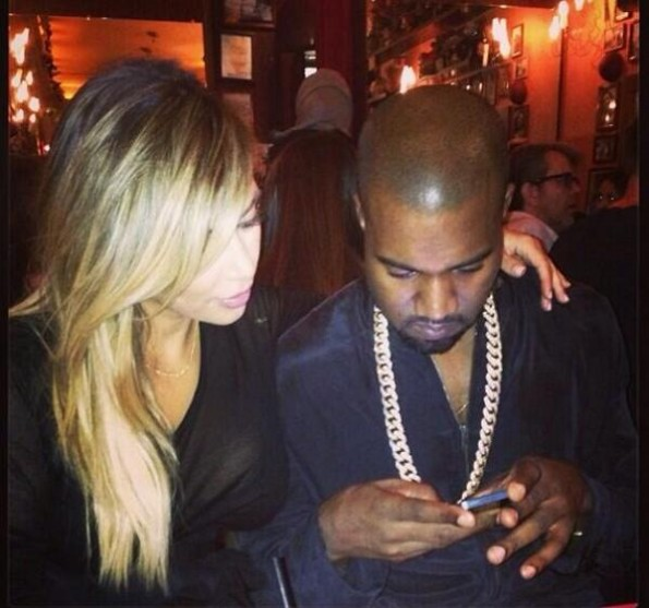 kanye west-kim kardashian-paris fashion week 2013-the jasmine brand
