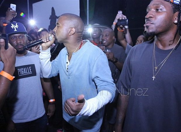 [WATCH] Kanye West Gives A Sermon At Pusha T's Listening Session