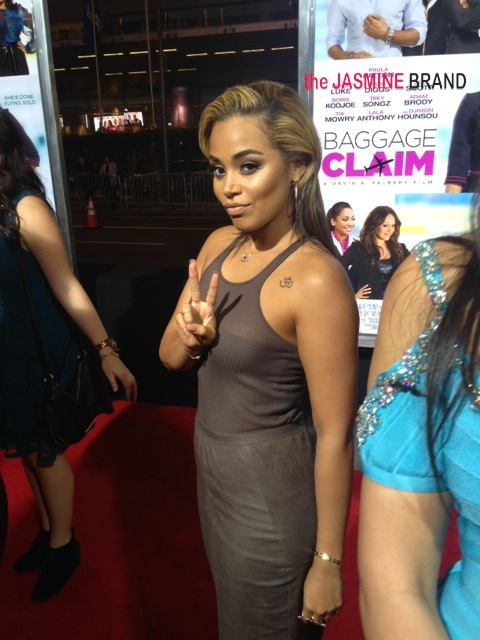 lauren london-baggage claim premiere-los angeles-the jasmine brand