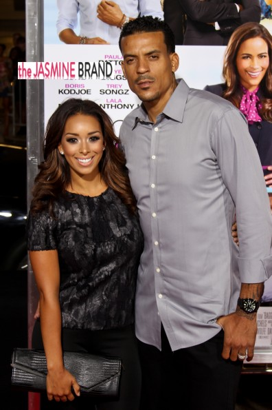 matt barnes-gloria govan-baggage claim premiere-los angeles-the jasmne brand