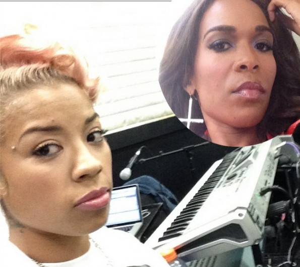 michelle williams-extends olive branch to keyshia cole-the jasmine brand