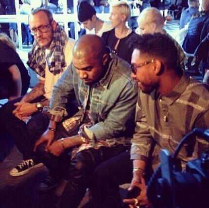 miguel-terry richardson-kanye west-new york fashion week 2013-alexander wang show-the jasmine brand