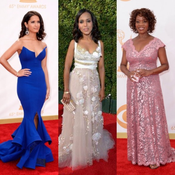rocsi diaz-kerry washington-alfre woodard-emmy awards red carpet 2013-the jasmine brand