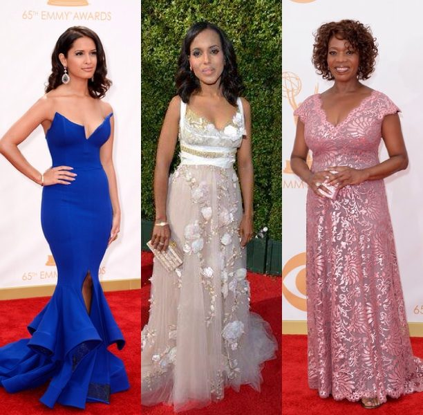[Photos] Kerry Washington, Rocsi Diaz, LL Cool J & More Celebs Spotted On Emmy Awards Red Carpet
