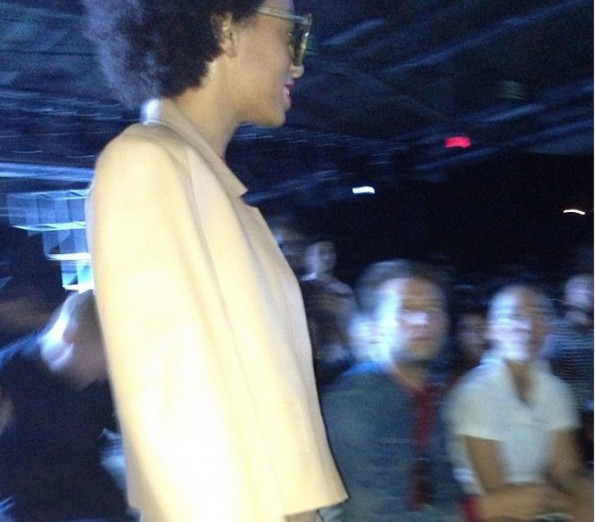 solange-kanye west-new york fashion week 2013-alexander wang show-the jasmine brand