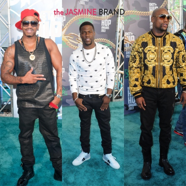 stevie j-kevin hart-floyd mayweather-bet hip hop awards 2013-the jasmine brand