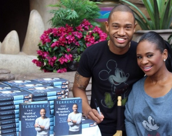 terrence j-promotes new book with lauren london-disney land-the jasmine brand