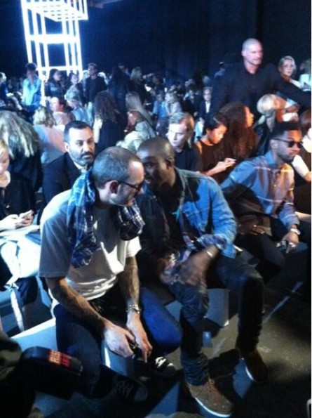 terry richardson-miguel-kanye west-new york fashion week 2013-alexander wang show-the jasmine brand