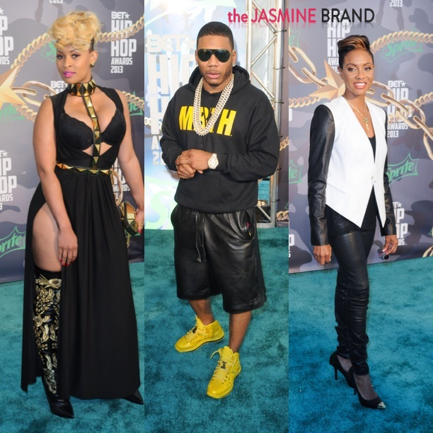 tiffany foxx-nelly-mc lyte-bet hip hop awards 2013-the jasmine brand