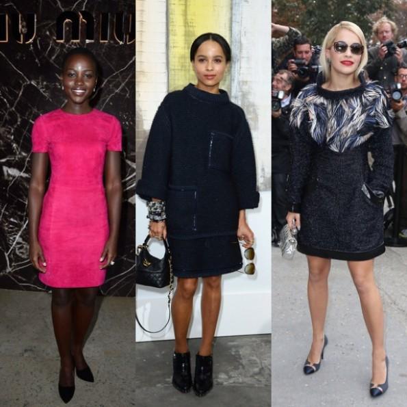 Lupita Nyong-zoe kravitz-rita ora-paris fashion week 2013-the jasmine brand