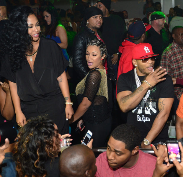 Limited P.D.A. But These Two Are Absolutely A Couple! Rapper Nelly & Girlfriend Tae Heckard Go ATL Clubbin