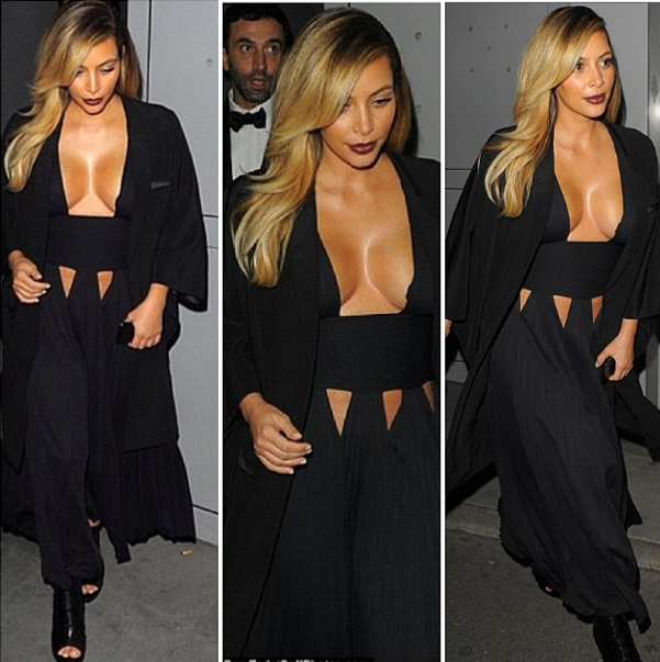 Kim kardashian givenchy black dress