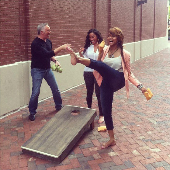 Mariah-Huq-Playing-Cornhole-The-Jasmine-Brand