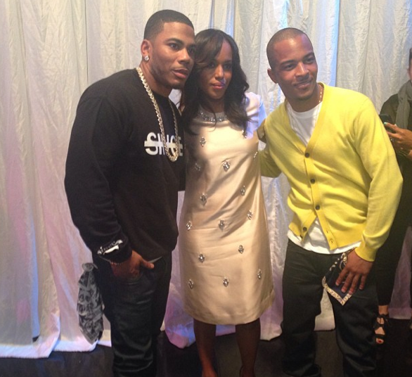 Kerry-Washington-Poses-With-TI-Nelly-Good-Morning-America
