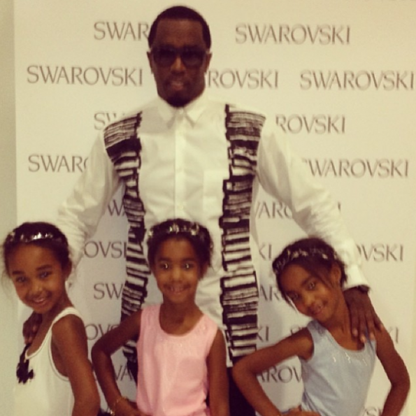 Diddy's-Poses-Daughters-Jesse-D'lilah-Chance-Runway-Debut-The-Jasmine-Brand