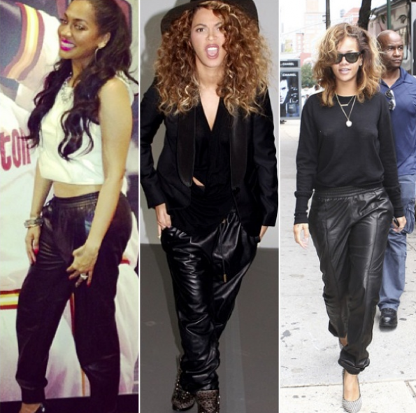 Lala-Beyonce-Rihanna-Leather-Joggers-The-Jasmine-Brand
