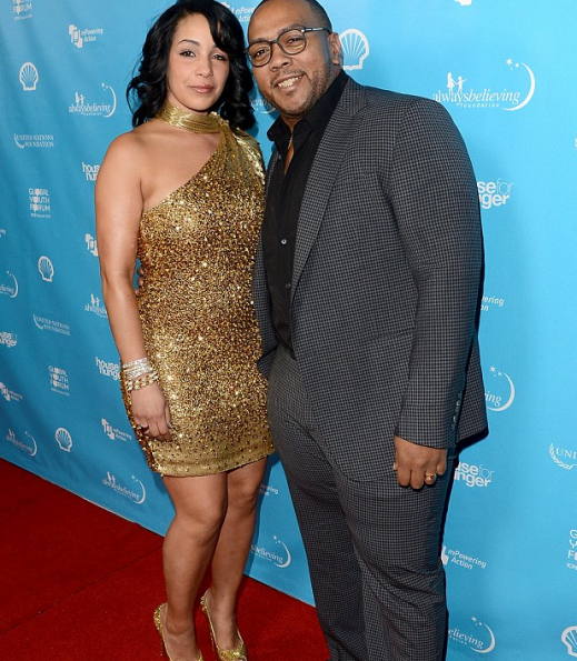 Timbaland & wife Monique (2013)
