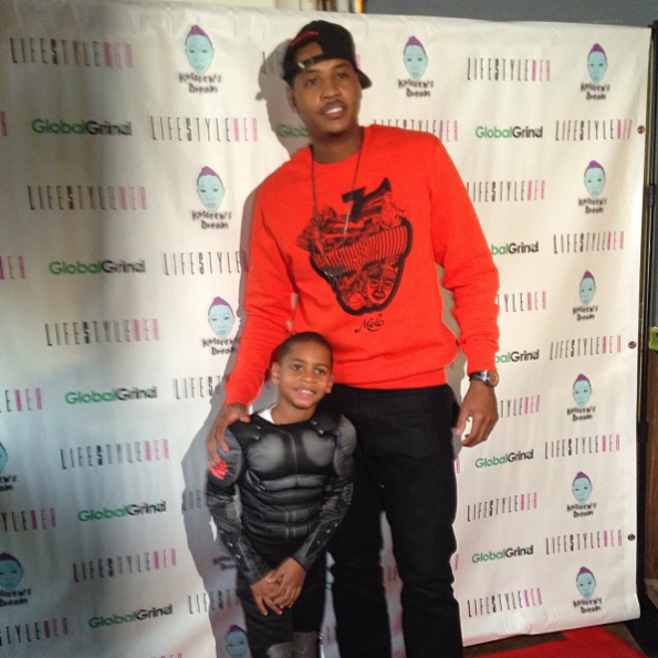 Carmelo Anthony-Son-Kiyan-Attend-Kasseem's-Dream-Launch-The Jasmine-Brand