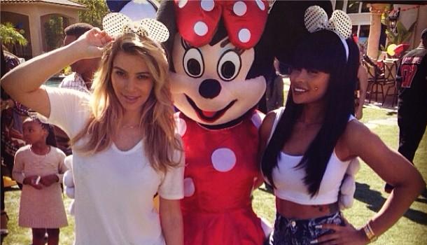[Photos] Kim Kardashian Shows Up For Blac Chyna's Kiddie Party