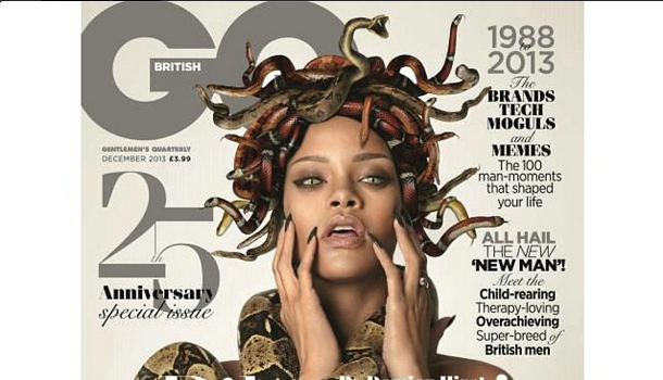 Rihanna Goes Medusa, Sports A Head Full of Snakes For GQ British