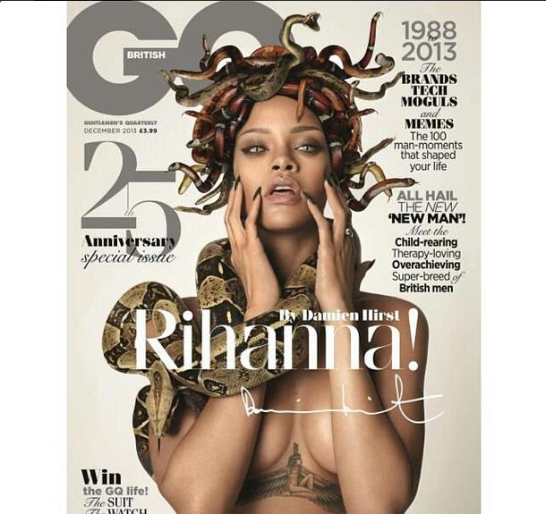 Rihanna Goes Medusa, Sports A Head Full of Snakes For GQ British