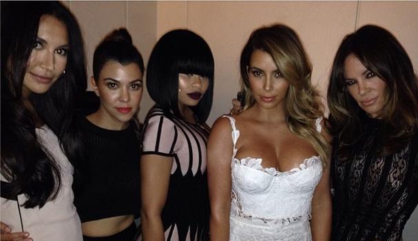 Kim Kardashian Brings Girlfriends Blac Chyna, Naya Riveria & Other Famous Folk For Vegas Bday Bash