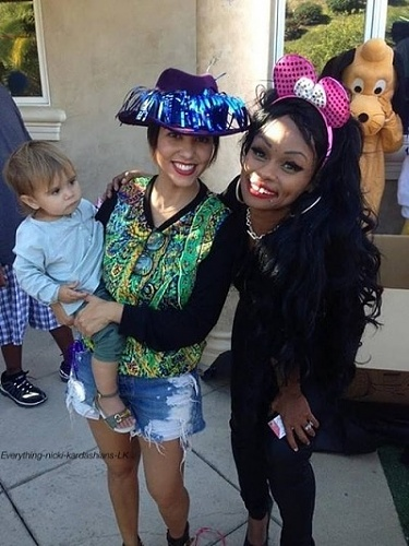 blac chyna-son 1st birthday party-kourney kardashian-the jasmine brand
