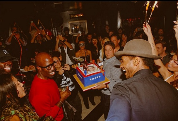 cake-usher-35th birthday party-the jasmine brand