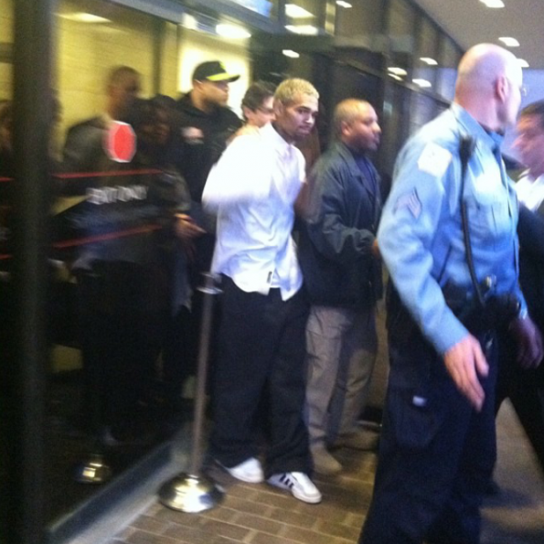 [Photos] Chris Brown Released From Jail, Charges Reduced To Misdemeanor Assault