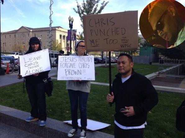chris brown supporters-dc arrest assault-the jasmine brand