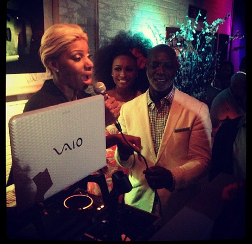 cynthia bailey-nene leakes-peter thomas birthday party 2013-the jasmine brand