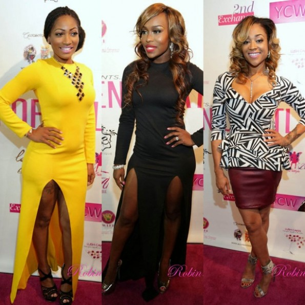 erica dixon-quad lunceford webb-mimi faust-women of atlanta-breast cancer awareness fashion show-the jasmine brand