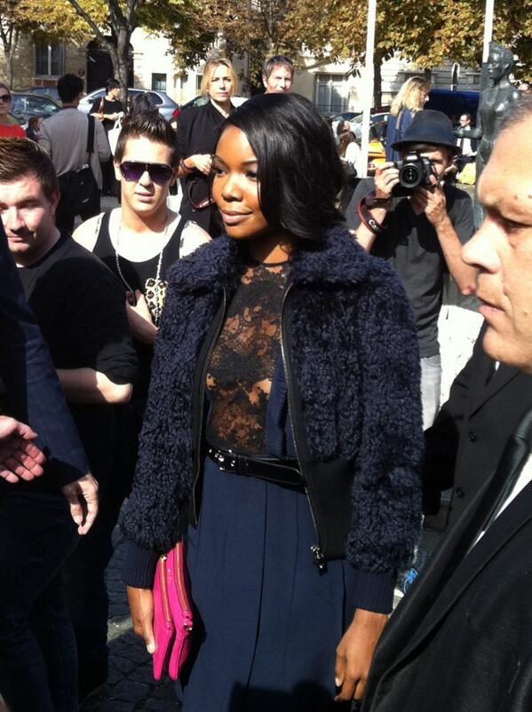 gabrielle union-paris fashion week 2013-miu miu show-the jasmine brand