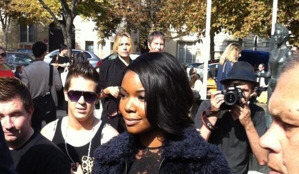 [Photos] Gabrielle Union Takes In Paris Fashion Week