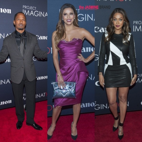 jamie foxx-eva longoria-lala anthony-Global Premiere Of Canons Project Imaginat10n Film Festival in New York City-the jasmine brand