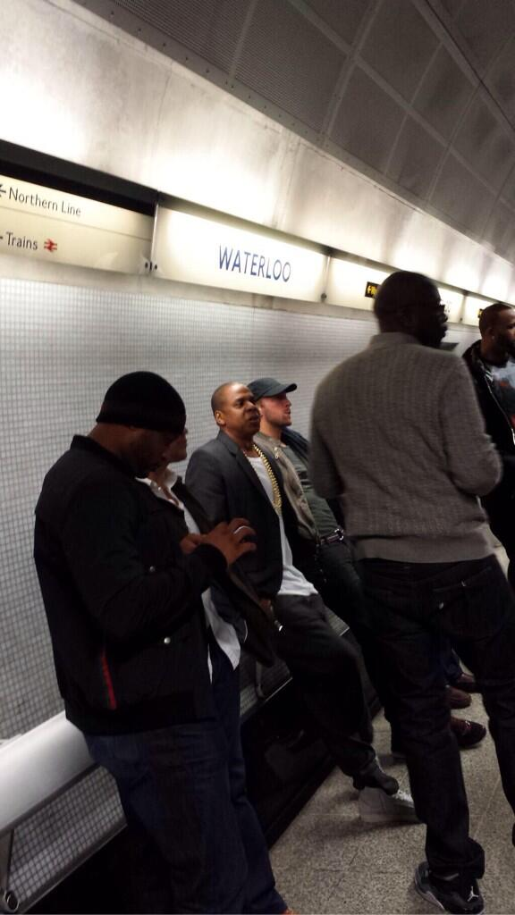 jay Z-Chris Martin-Timbaland-take the london tube-the jasmine brand