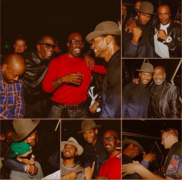 jermaine dupri-diddy-miguel-justin bieber-sugar ray leonard-usher-35th birthday party-the jasmine brand
